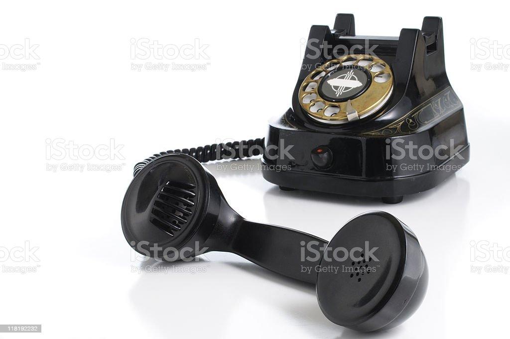 Black Rotary Telephone royalty-free stock photo