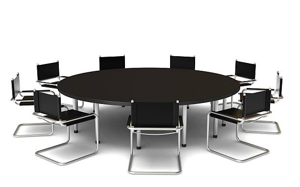 Royalty Free Round Conference Table Pictures Images And Stock - Round conference table for 6
