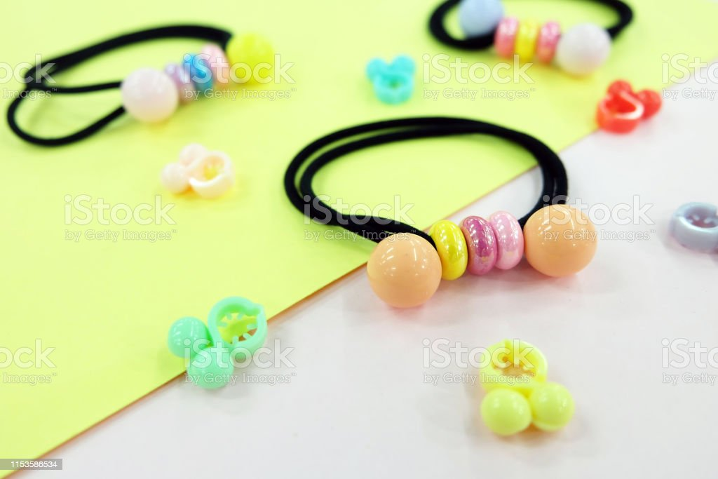 Black Rubber Band With Bead Fashion Accessories Hair Elastic Band