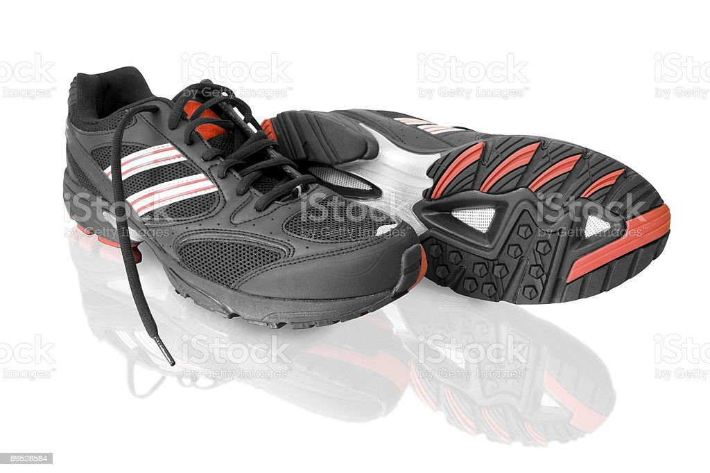 black running shoes royalty-free stock photo