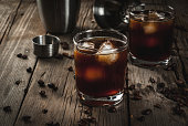istock Black Russian cocktail with vodka and coffee liquor 669105860