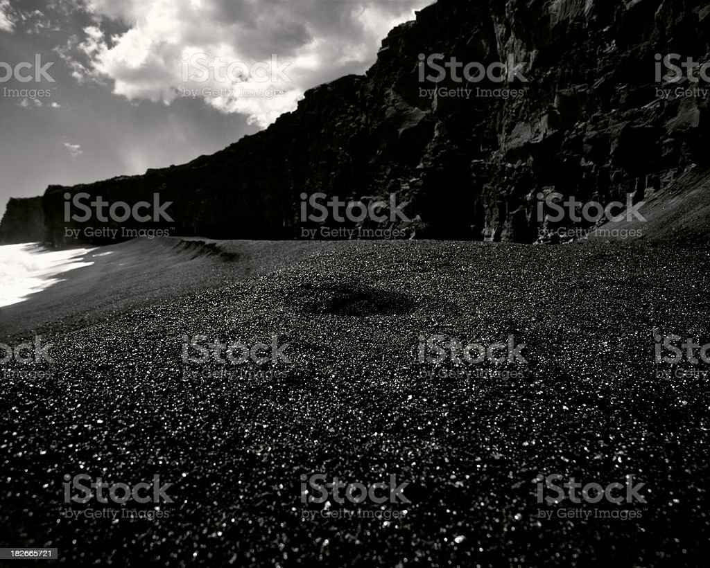 Black sand beach, Hawaii. royalty-free stock photo