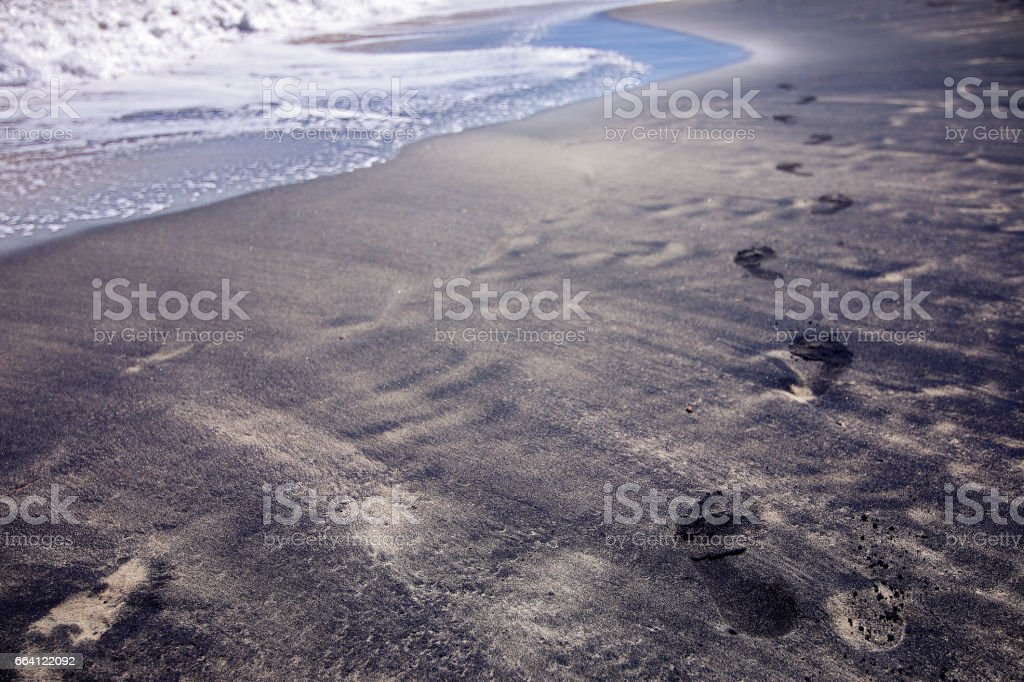 Black Sand Beach (Playa Negra), Vieques, Puerto Rico stock photo