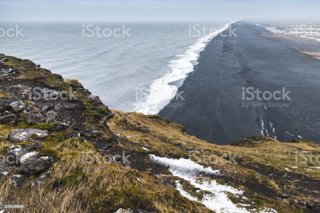 Black sand beach, Vik district, Iceland stock photo