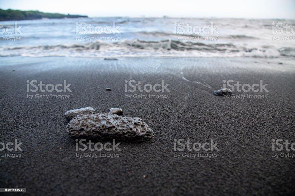 Black Sand Beah #2 stock photo