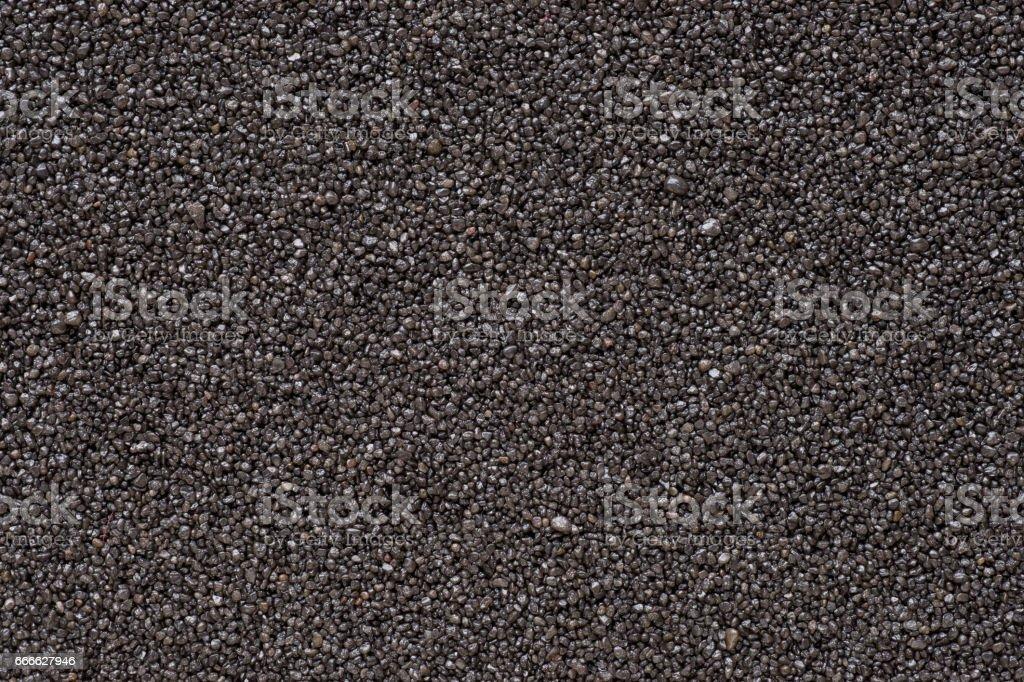 Black sand extremal close up stock photo