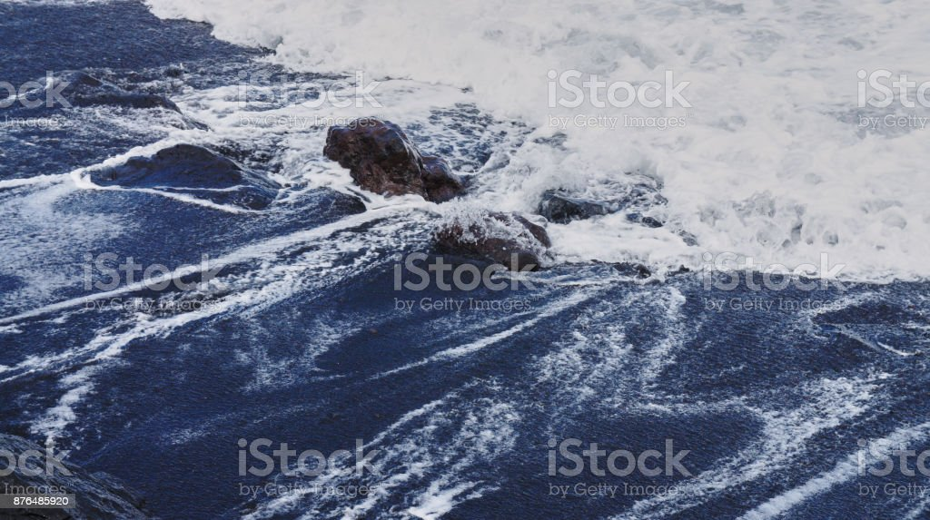 Black sand of Tenerife, Canary Islands, Spain 1 stock photo