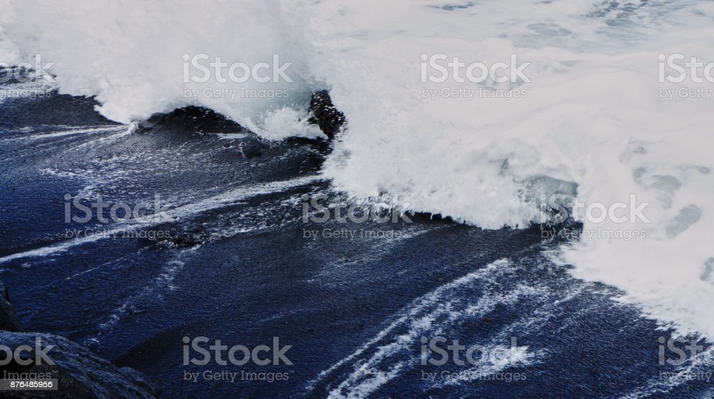Black sand of Tenerife, Canary Islands, Spain 2 stock photo
