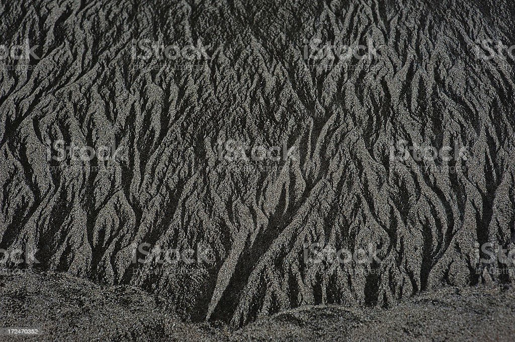 black sand stock photo