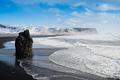 istock Black sand Reynisfjara beach and rocks, Vik,Iceland 952791364