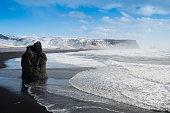 istock Black sand Reynisfjara beach and rocks, Vik,Iceland 952791364
