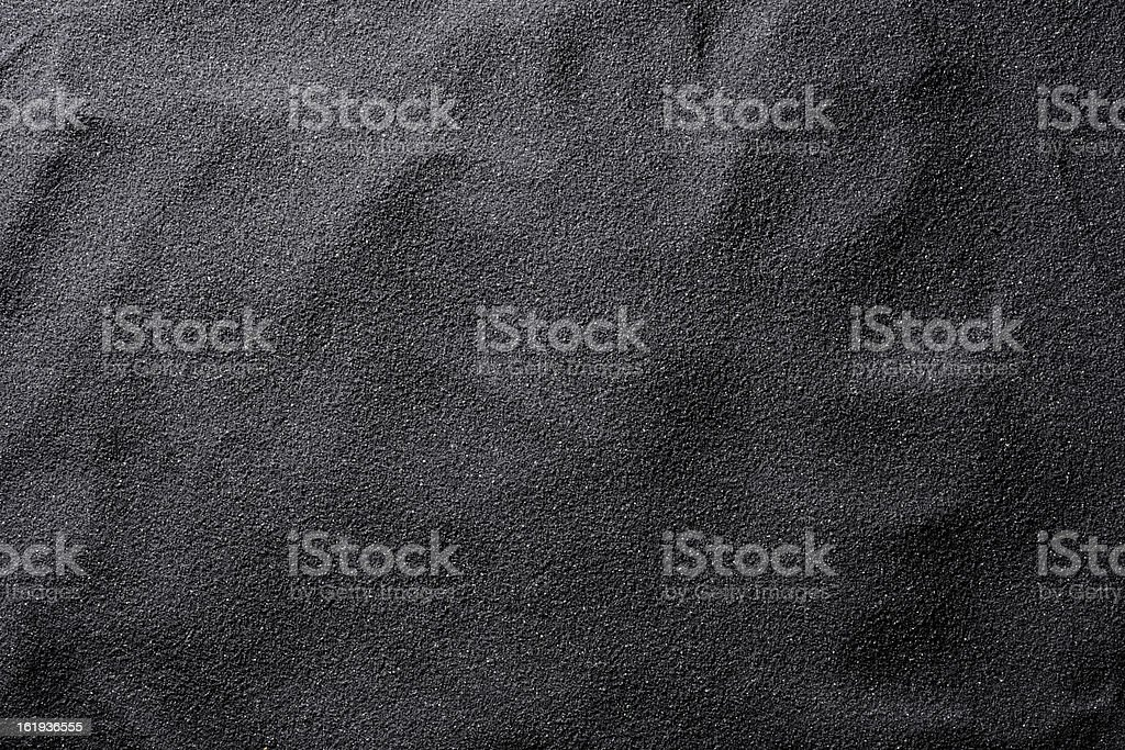 Black sand texture background stock photo