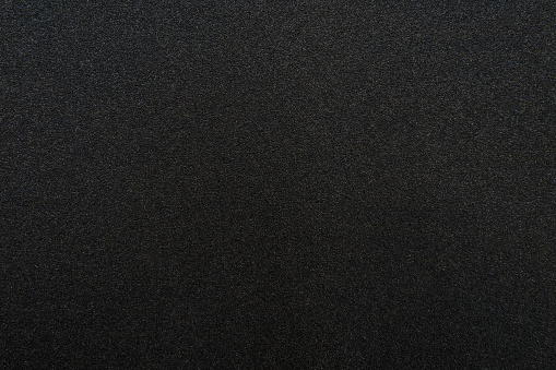 Black Sandpaper Texture Stock Photo - Download Image Now
