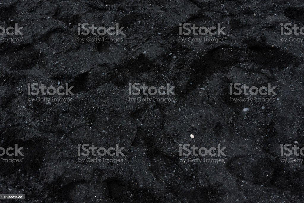 Black sands of Vik stock photo