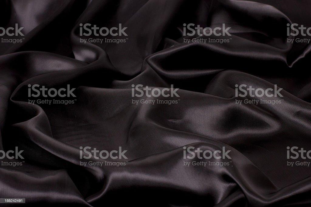 black satin fabric royalty-free stock photo