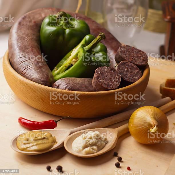 Black Sausage Stock Photo - Download Image Now