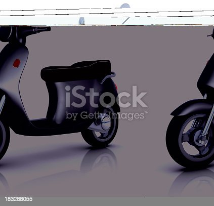 Retro scooter. Digitally Generated Image isolated on white background