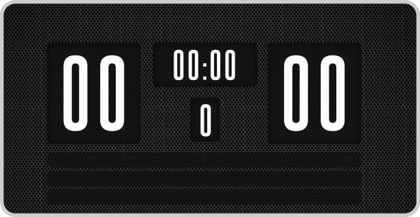 black scoreboard with no score - scoring stock photos and pictures
