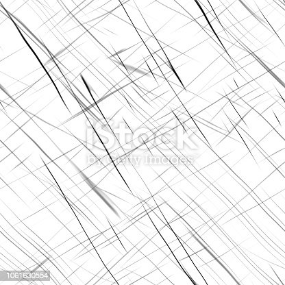 istock Black scratches on a white background. Seamless grunge texture. 1061630554