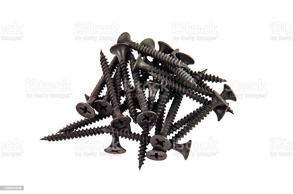 Black Screws stock photo