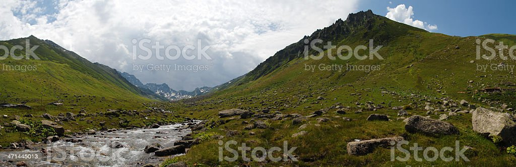 Black Sea high Viehweide panorama, Türkei – Foto