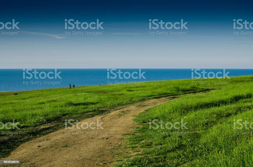 Black sea stock photo