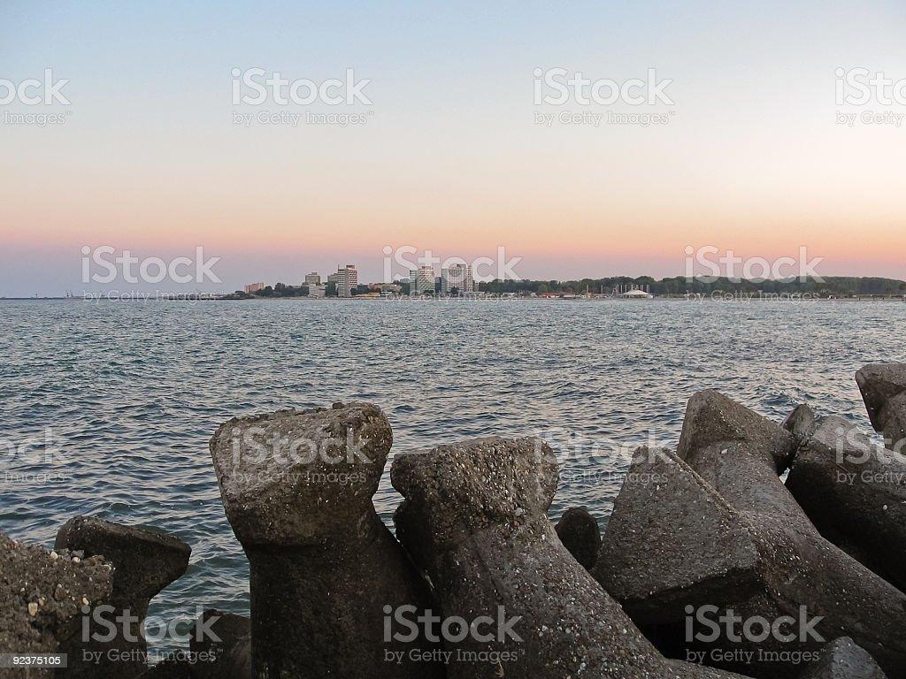 Black sea royalty-free stock photo