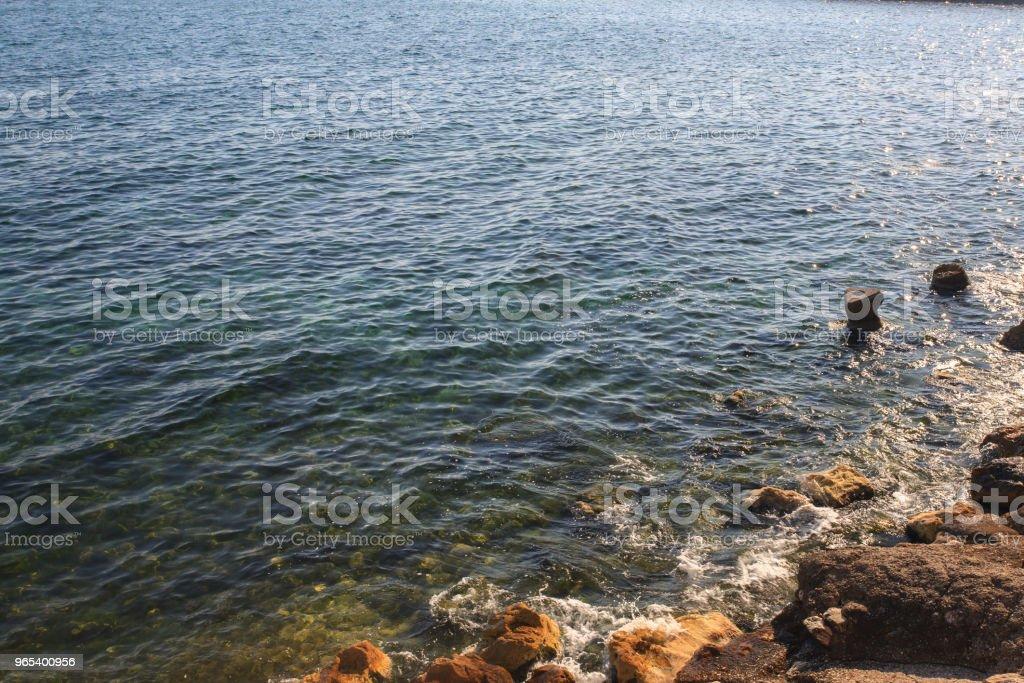 Black sea shore - Zbiór zdjęć royalty-free (Bez ludzi)