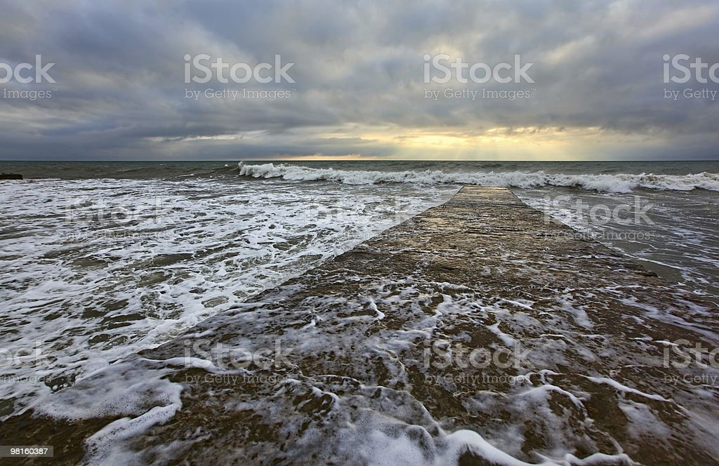 Black sea, Sochi, storm royalty-free stock photo