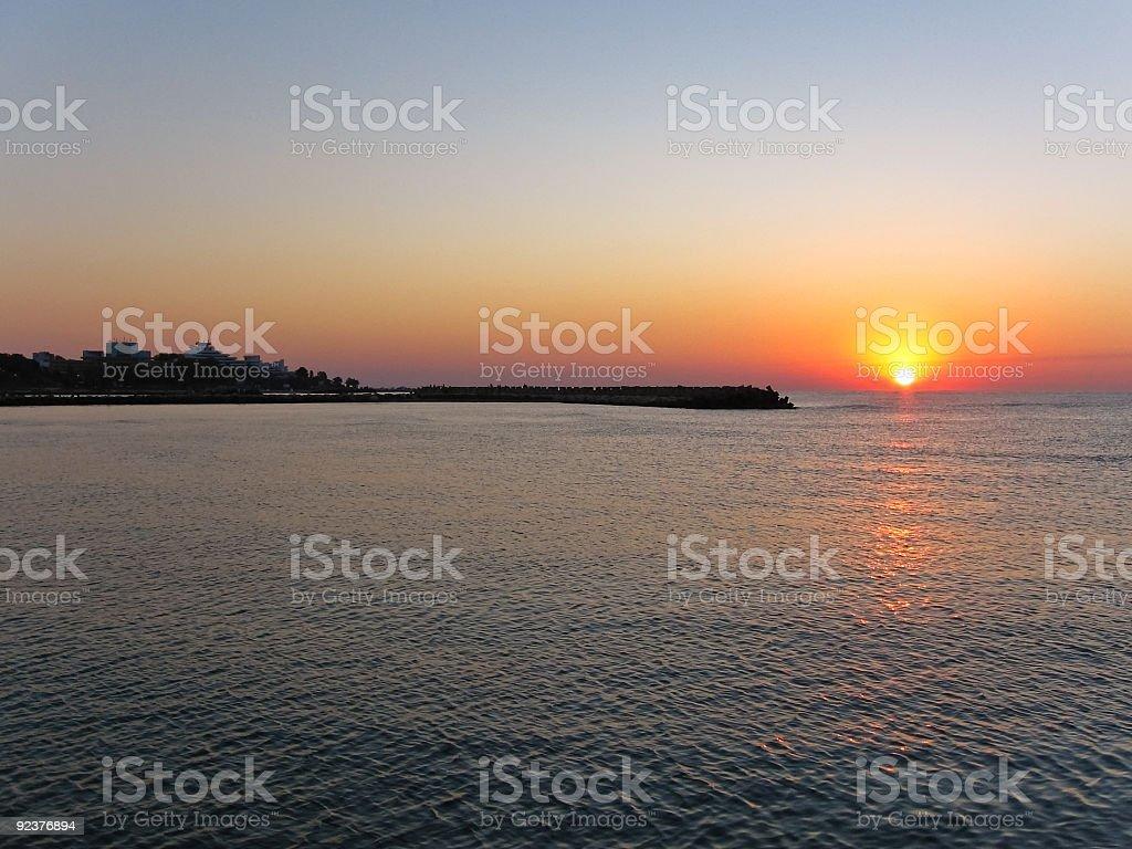 Black Meer Sonnenaufgang Lizenzfreies stock-foto