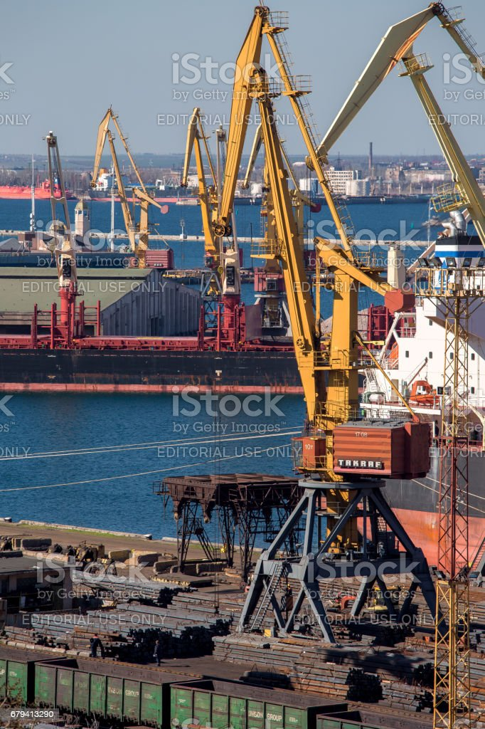 Black Sea trade port, export of raw material. royalty-free stock photo