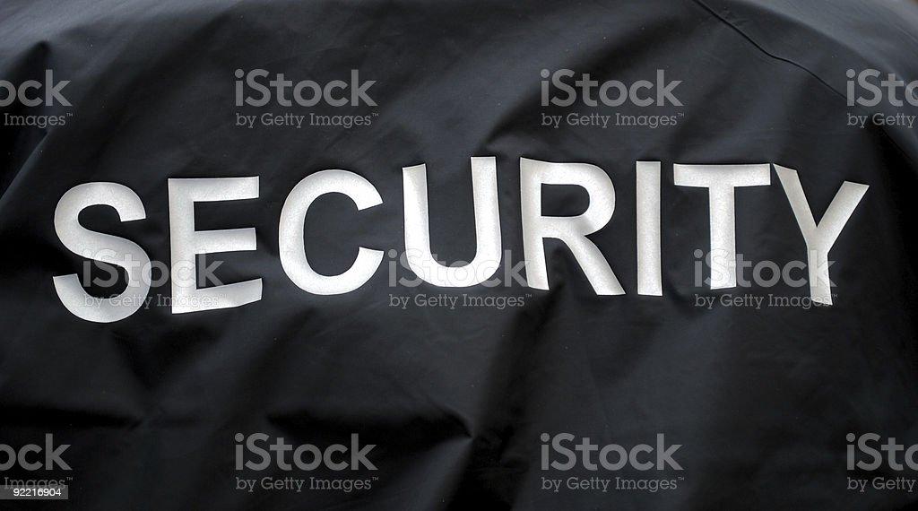 Black security jacket background royalty-free stock photo