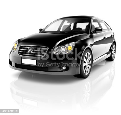475358758 istock photo 3D Black Sedan Car 491453109