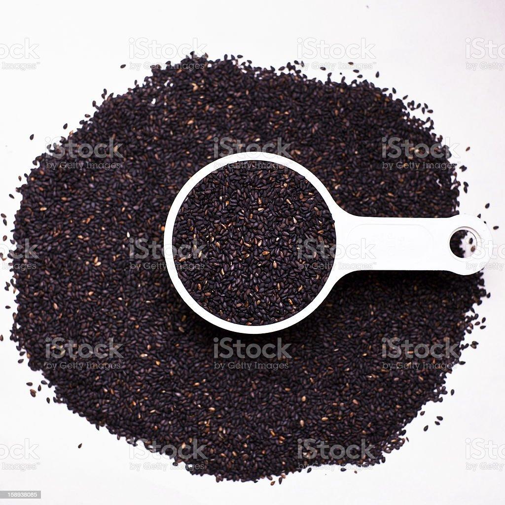 black sesame stock photo