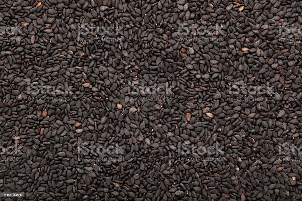 Black sesame seed stock photo