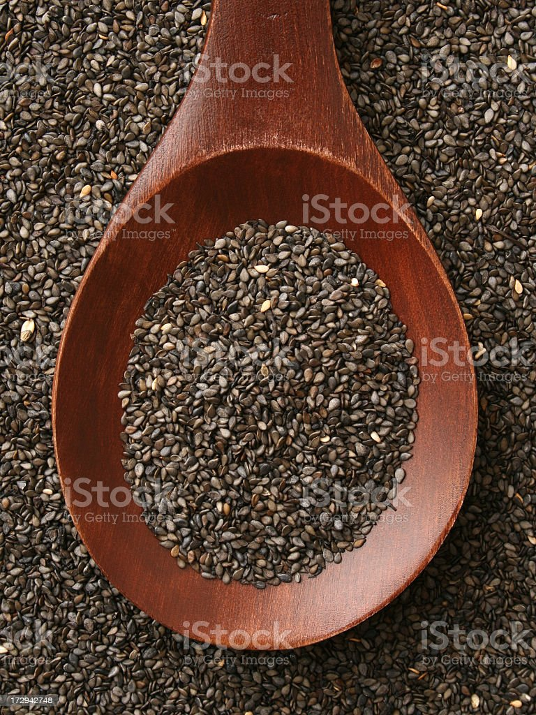 Black sesame seeds royalty-free stock photo