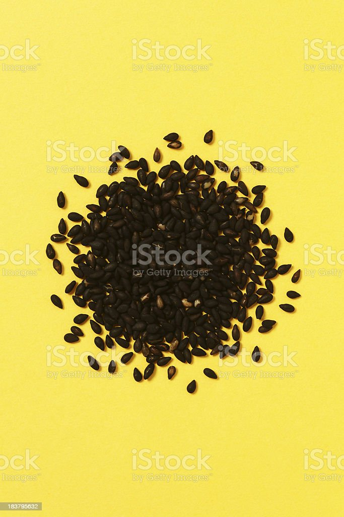 Schwarzen Sesam Lizenzfreies stock-foto