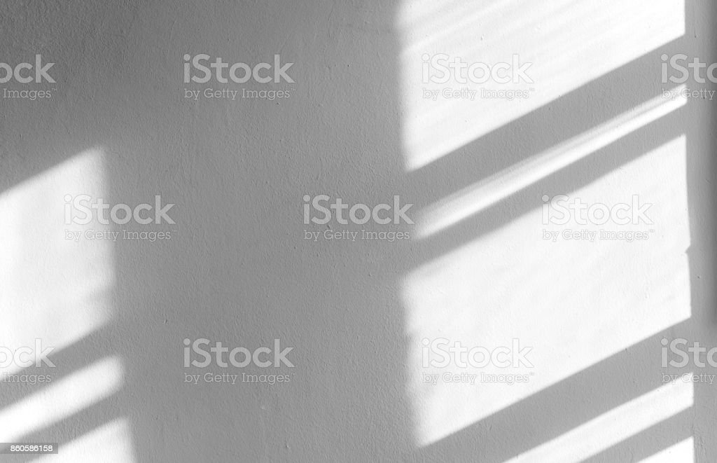 Black shadows on the concrete wall, abstract shadow, background for ideas stock photo