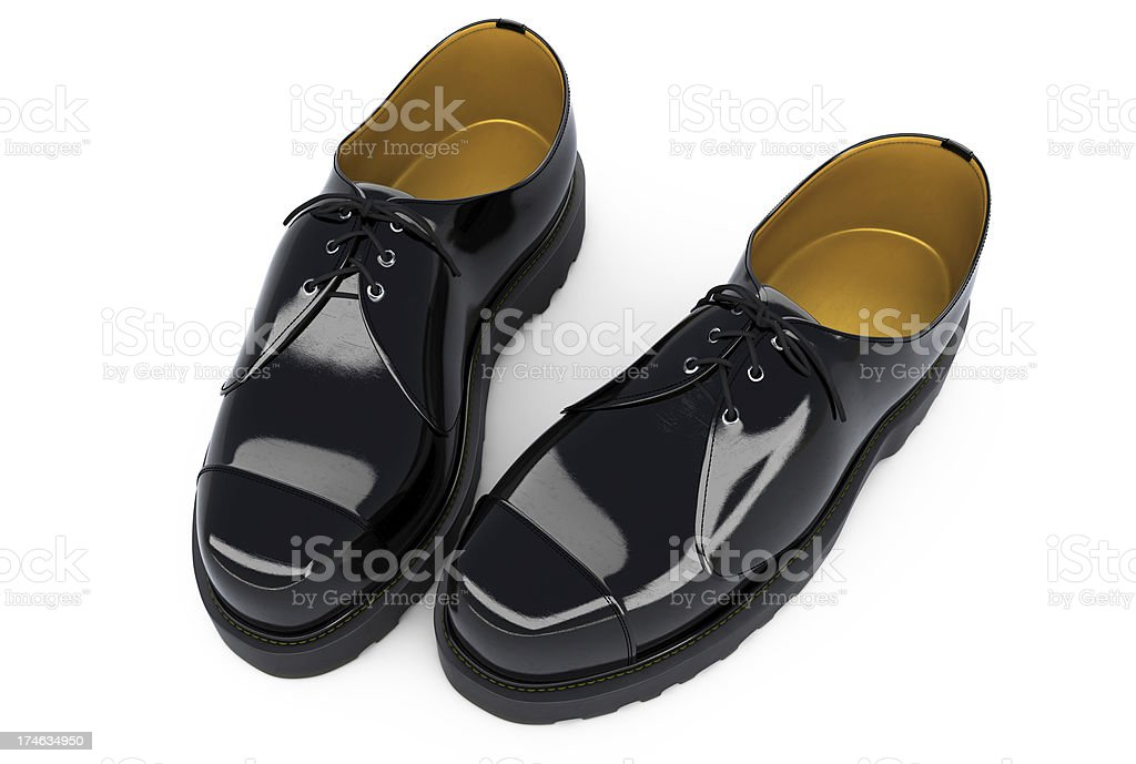 Black Shiny Shoes stock photo