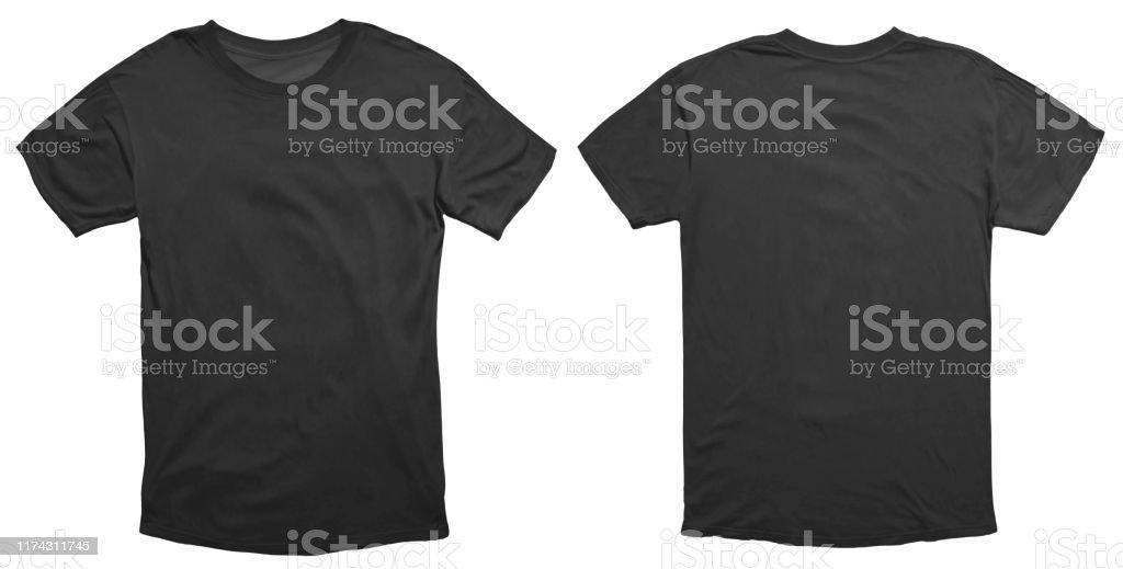 Zwart shirt ontwerpsjabloon - Royalty-free Advertentie Stockfoto