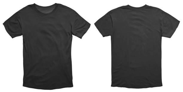 szablon projektu czarnej koszuli - plecy zdjęcia i obrazy z banku zdjęć