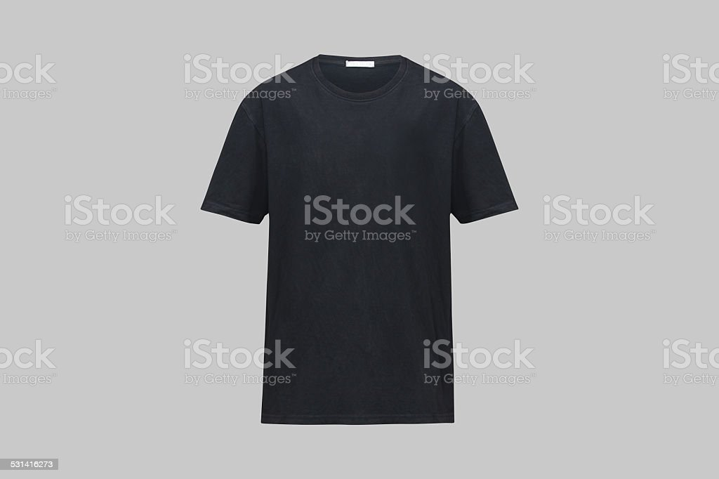 black shirt stock photo