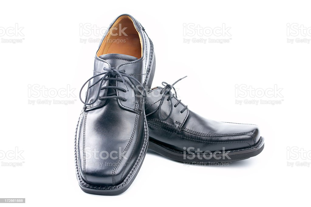 black shoes on white royalty-free stock photo