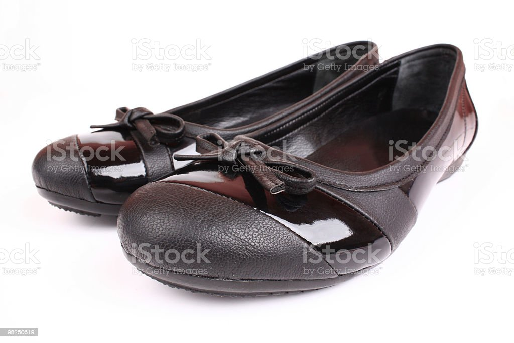 Scarpe nere foto stock royalty-free