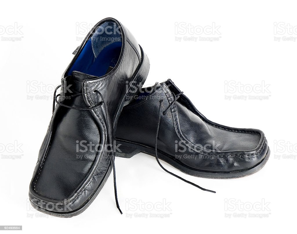 Black shoes stacked royalty-free stock photo