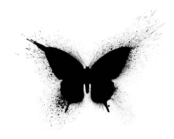 Black silhouette of a butterfly with paint splashes and blots on a picture id1146127558?b=1&k=6&m=1146127558&s=612x612&w=0&h=ytg xzb6cs8mfoqjdp41emkg4di4ios7qgnnpilsyli=