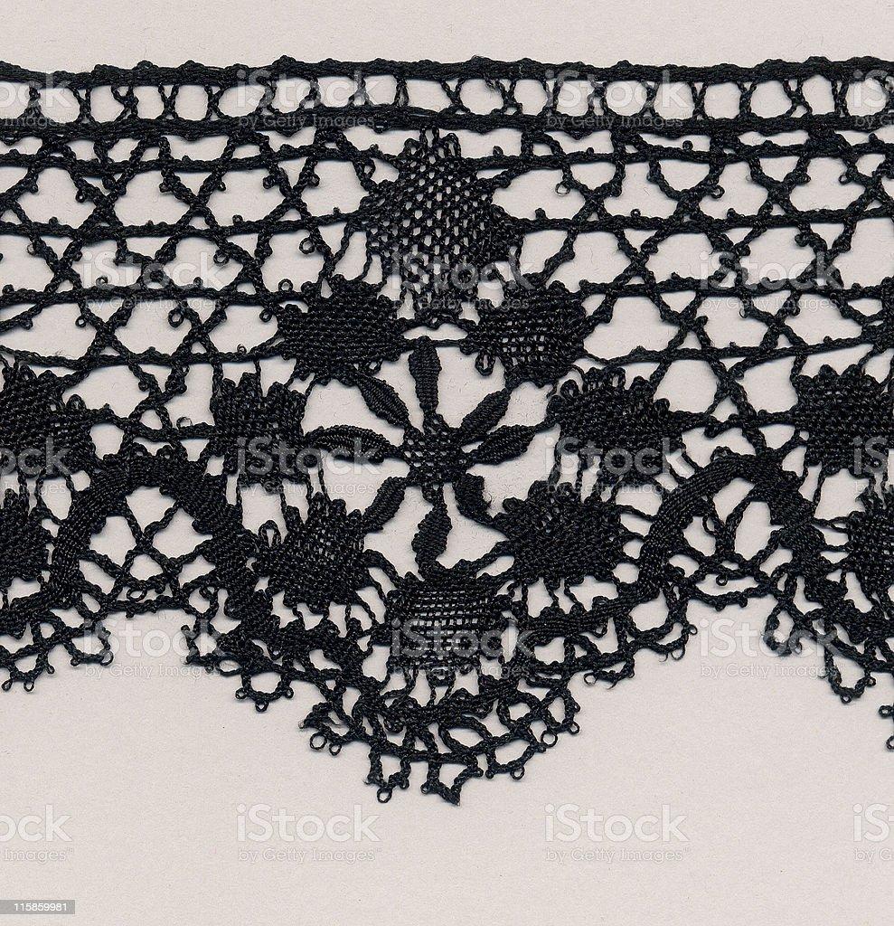 black silk needlelace lace royalty-free stock photo