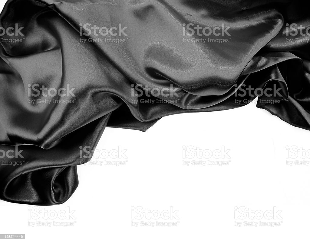Black silk royalty-free stock photo