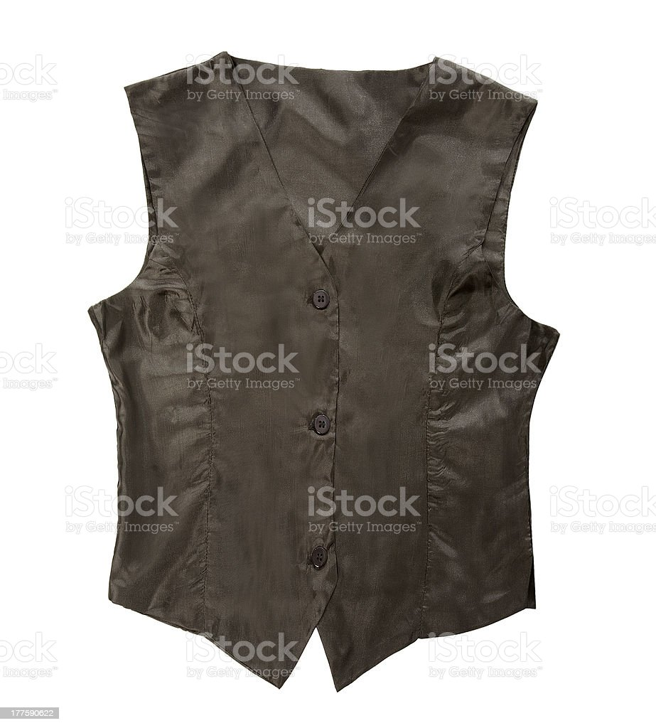 Black simple vest royalty-free stock photo