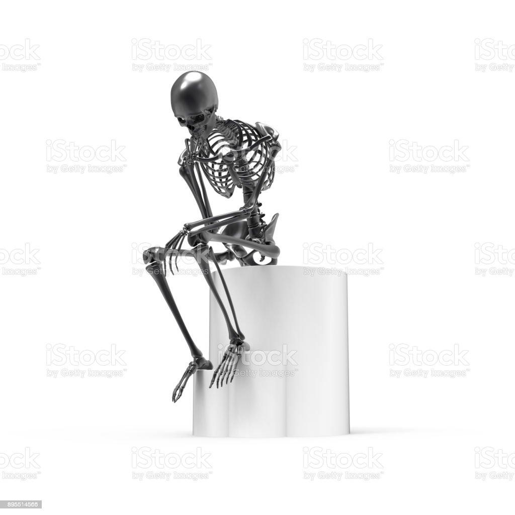Schwarze Skelett Sitzende Pose Stock-Fotografie und mehr Bilder von ...